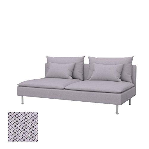 Soferia - IKEA SÖDERHAMN Funda para sofá Cama, Nordic Light Grey