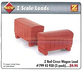 MicroTrains Z Red Circus Wagon Load (2 pack)
