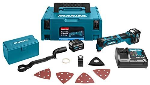 Makita tm30dsmjx420000RPM 10.8V Li-Ion schwarz, drahtlosen blau Multifunktionswerkzeug Multitool (10,8V, Li-Ion-Akku, 4000mAh, 65mm, 296mm, 98mm)