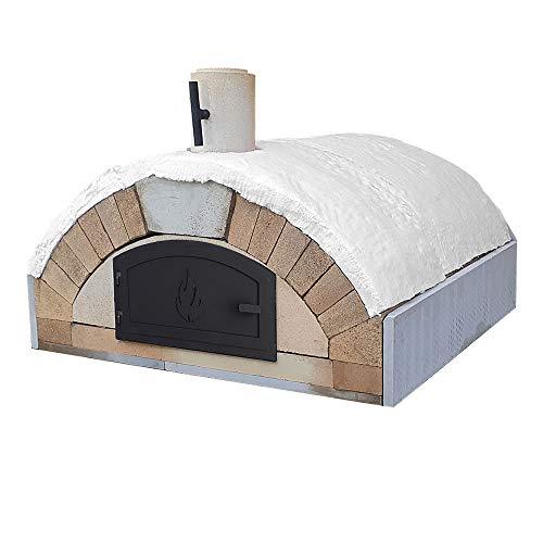 PUR Schamotte Merano mit Gusstür & Verkleidung, Pizzaofen Bausatz + Anleitung, Holzbackofen/Steinofen Selber Bauen Garten