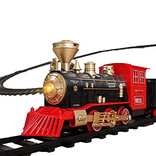 unhg Juego de Tren Eléctrico de Lujo Tren Navideño 17 Piezas, con...