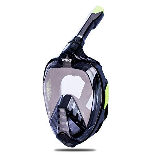 ZBYD Máscara de Buceo de la Cara Completa para jóvenes Adultos Nuevos Gafas antie niebles con Gopro Mount Mascarilla de natación de visión Amplia bajo el Agua 412