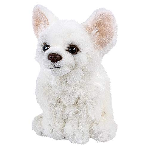 Teddys Rothenburg Kuscheltier Chihuahua 17 cm sitzend weiß Plüschchihuahua Plüschhund