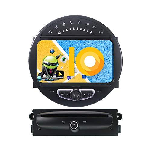 ZWNAV 8 pollici Andriod 9.0 Double Din Car Stereo Sat Nav Bluetooth Navigazione GPS per BMW Mini Cooper 2006-2014 Unità di controllo del volante Wifi USB Carplay Mirror Link