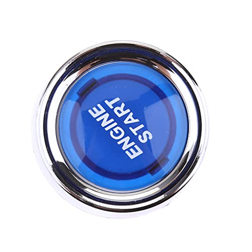 MagiDeal Pousser Bouton Allumage de Voiture Démarreur LED Bleu Interrupteur Illuminé
