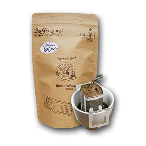 Life is You! Coffee Bags | Khun Chang Khian Kaffee aus THAILAND, handverlesen gepflückt | 15 Coffee Bags ( für Becher ) | in einer Öko- Zipptüte, frisch und schonend handgerösteter Filterkaffee zum Aufbrühen