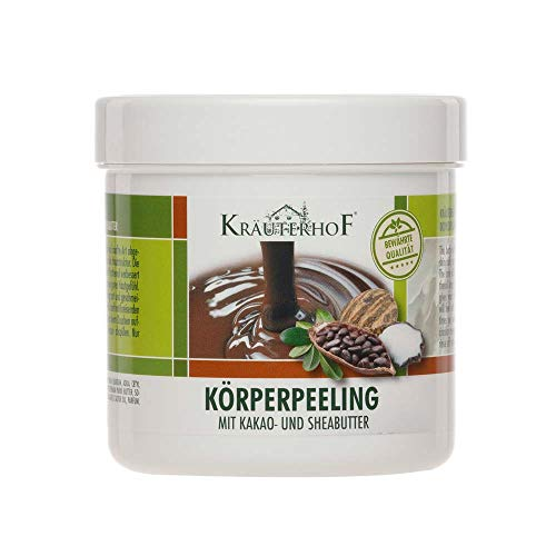 Kräuterhof® Körperpeeling Peeling Body Scrub Hautpflege, Kakaobutter & Sheabutter, 400 g