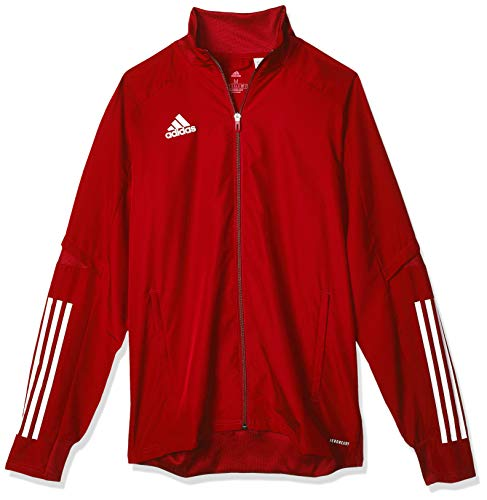adidas CON20 PRE JKT Sport Jacket, Hombre, Team Power Red/White, XL