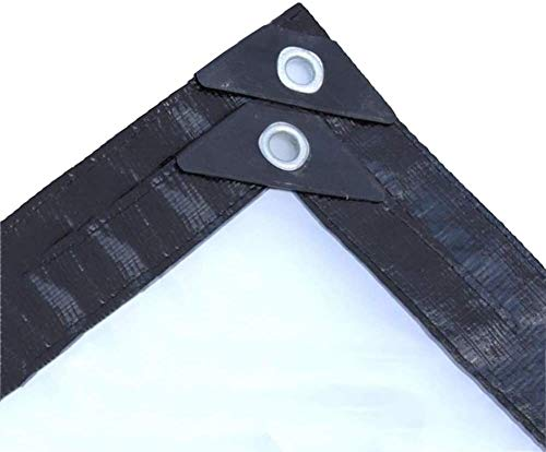 Toldo Clear Tarpaulin Lona impermeable, a prueba de viento, Transparente, ligero ventanas, balcones, prueba de lluvia de tela con perforaciones, 0,12 Mm PE, 140 G / M² ( Color : Clear , Size : 5X8M )