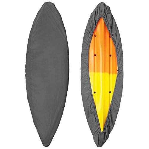 Blusea Abdeckplanen für Boote,Professionelle Universal Kajak Abdeckung Kanu Boot Wasserdicht UV-beständig Staubspeicherabdeckung Schild (Grey, 5.0m)
