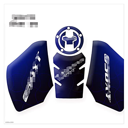 JINYAN am-PM Tapis de Protection adapté à Suzuki DL650XT DL650 XT V- Stress VSTROM 2019 2020 Accessoires de Moto Tapis de Protection antidérapante pour réservoir (Color : Blue)