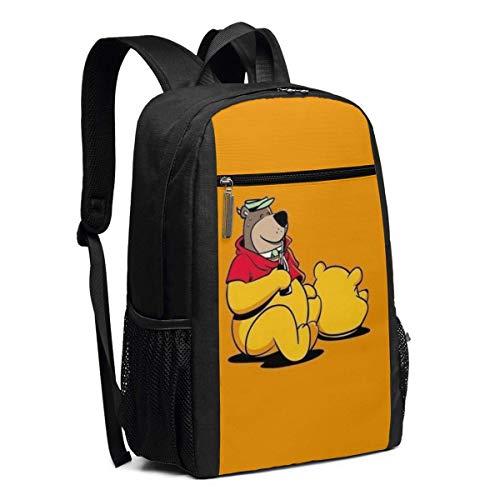 BUGKHD Rucksack für Laptops, Winnie Pooh, Bär, Schule, Büchertasche, Computertasche, Freizeitrucksack für Damen und Herren