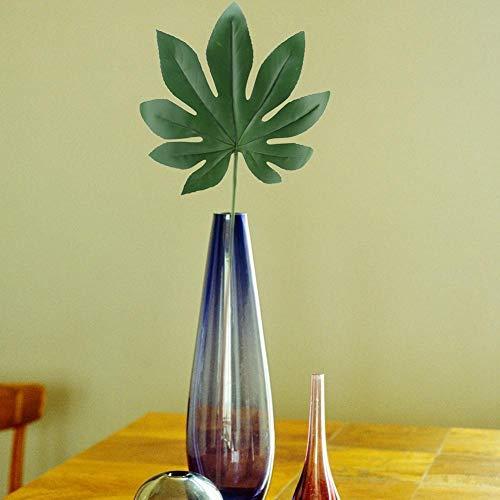 YABMF Künstliche Pflanze Blume Gefälschte Kunststoff Fatsia Japonica Blatt Garten Hochzeit Dekoration Dekorationen