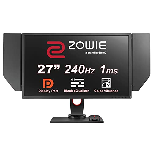 "BenQ ZOWIE XL2740 Monitor para e-sports 27"", 240 Hz con Black eQualizer, soporte regulable en altura, Color Vibrance, S-Switch, Adaptive Sync compatible con G-SYNC, 120 Hz para PS5 y Xbox Series X"