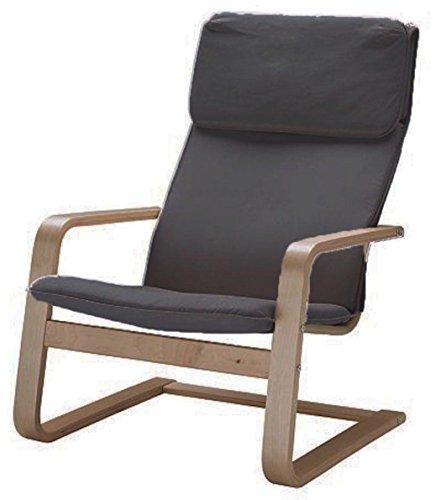 ¡Solo cubierta! ¡La silla no está incluida! El reemplazo de las fundas de la silla de algodón está hecho a medida para el sillón IKEA Pello. Gris oscuro