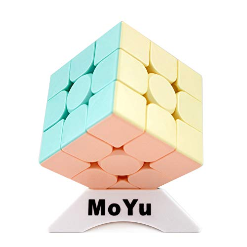 Moyu OJIN MoFang JiaoShi Meilong Series Cube Meilong3 3x3x3 Cube Bright Pink Stickerless Cubing Classroom Meilong Forsted Surface Puzzle Cube con un trípode de Cubo