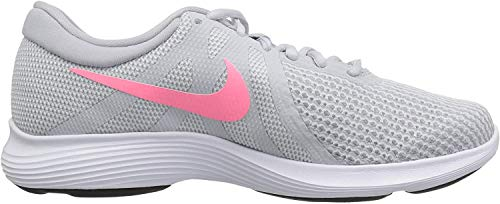 Nike Women's Revolution 4 Running Shoe, Pure Platinum/Sunset Pulse - Wolf Grey, 8.5 Wide US