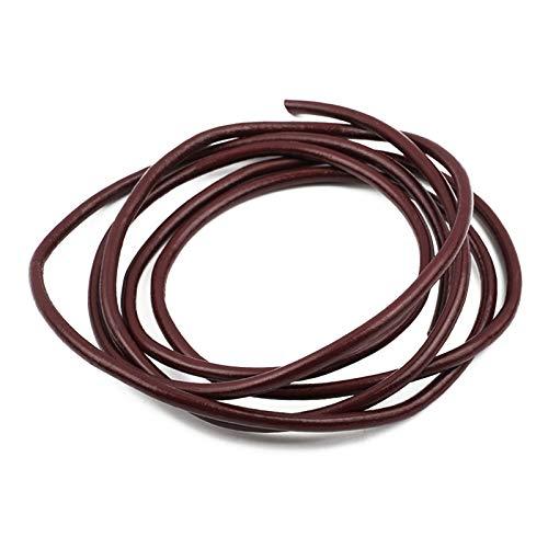 WT-DDJJK Cuerda de Equipaje, Cuerda de Equipaje de Cuero Redondo Genuino de 4 mm, Cuerda de Bricolaje, Cuerda con hallazgos de Pulsera, Rebajas de Viernes Negro 2020
