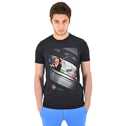 Schneewittchen und die Sieben Zwerge beim Banküberfall, Marken T-Shirt, schwarz - S