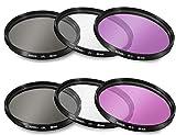 55mm and 58mm Multi-Coated 3 Piece Filter Kit (UV-CPL-FLD) for Nikon D3500, D5600, D3400 DSLR Camera with Nikon 18-55mm f/3.5-5.6G VR AF-P DX and Nikon 70-300mm f/4.5-6.3G ED
