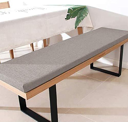 YINGLUO Cojín de banco doméstico duradero de 5 cm de grosor, cómodo cojín de asiento de banco con lazos de fijación, almohadilla espaciosa para silla de 2 a 3 plazas