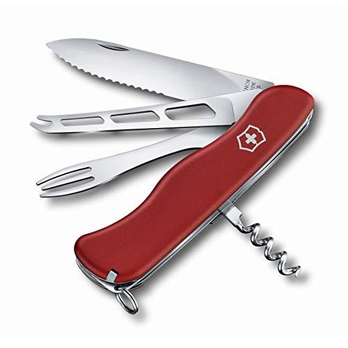 Victorinox Taschenmesser Cheese Master (8 Funktionen, Käseklinge, Fonduegabel, Korkenzieher), Rot, 111mm