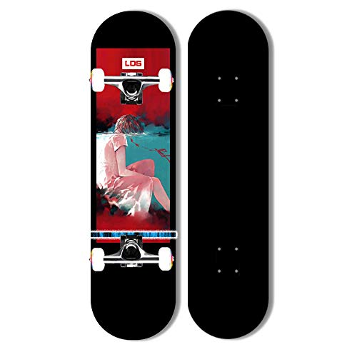 Skateboards Freistil Longboard Pro 31 Zoll Shortboard Skate Drop Through Beende Das Maple Deck Für Jugendliche, Anfänger, Mädchen, Jungen, Kinder, Erwachsene