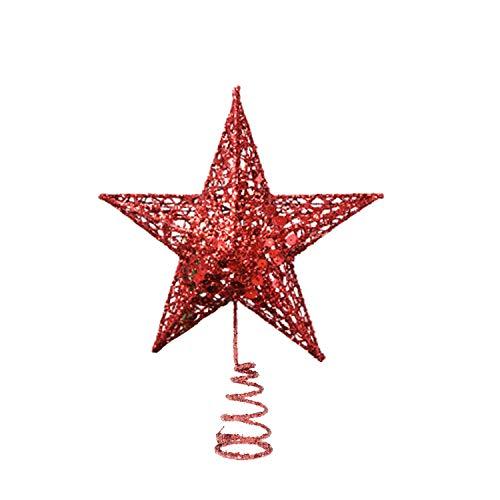 Estrella Arbol Navidad Roja, 20cm