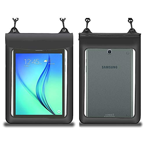 """Waterproof Tablet Case Dry Bag Pouch for iPad Air 10.5 / Pro 11 / Samsung Galaxy Tab A 10.1"""" & 10.5"""" /S4 / Acer Chromebook Tab 10 / Microsoft Surface Go 10"""" / Tablet up to 11.5"""",Black"""