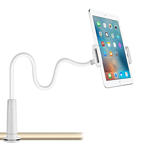 Cell Phone & Tablet Stand, Adjustable & Detachable Mount Holder with Bracket for 4-10.6 Inches, 32 Inches/80 cm Overall Length Apple or Android Devices(Holder for IPAD)