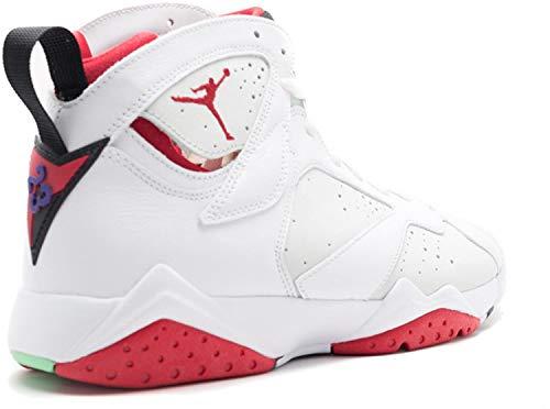 Nike Air Jordan 7 Retro, Zapatillas de Deporte para Hombre, Blanco/Rojo/Plateado (White/True Red-Lght Slvr-Trmln-), 43 EU