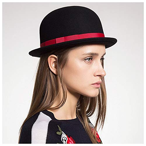 Wangxi Hombres de Las Mujeres de Lana Negro Hongo Cúpula del Sombrero de Fedora de Cosplay Topper Sombrero de Copa del...