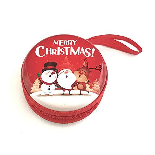 Hahuha Geldbörse, Frohe Weihnachten Geschenk Metall Geldbörse Weihnachtsmann druckt Frauen Münzkoffer Geschenk Home Decor
