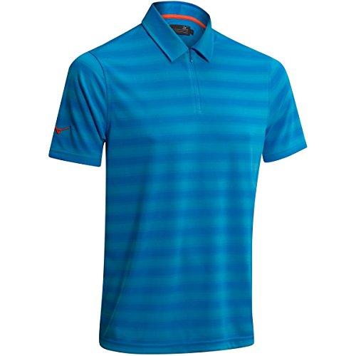 Mizuno Polo zippé pour Homme Bleu Brillant Taille S