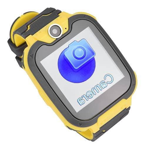 CUEA Reloj para teléfono para niños, Reloj electrónico de Respuesta rápida, Materiales de Silicona y abs para niños(Yellow)