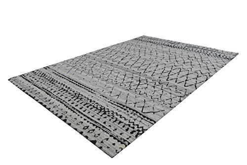 A2Z Tapis Moderne Gris Tapis beige foncé à motifs géométriques Shadow Design Pattern Floor Mats