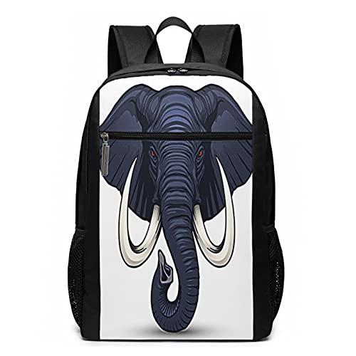 Zaino Scuola Casual Mammut testa di elefante zanna, Uomo Donne Ragazze Ragazzi Zaino per Borsa Da Viaggio Zaini Scolastico per Pc Portatili