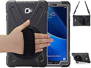 Samsung Galaxy Tab A 10.1 with S Pen Case,P580 Case,Herize Heavy Duty Shockproof Rugged Protective Case Cover with Hand Strap/Stand/Shoulder Strap,Galaxy A 10.1 2016 SM-P580/P585 for Kids,Black