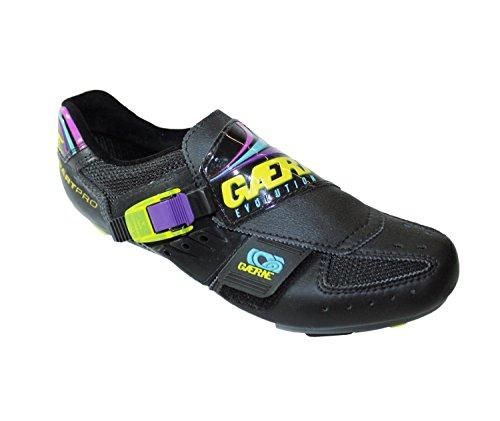 Gaerne Dart - PRO Nero Damen Herren Unisex Rennradschuhe Fahrradschuhe schwarz-gelb-lila EU 41 UK 7,5 26,5 cm