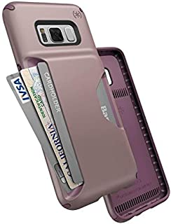 Speck Products Compatible Phone Case for Samsung Galaxy S8, Presidio Wallet Case, Clay Pink/Plumberry Purple