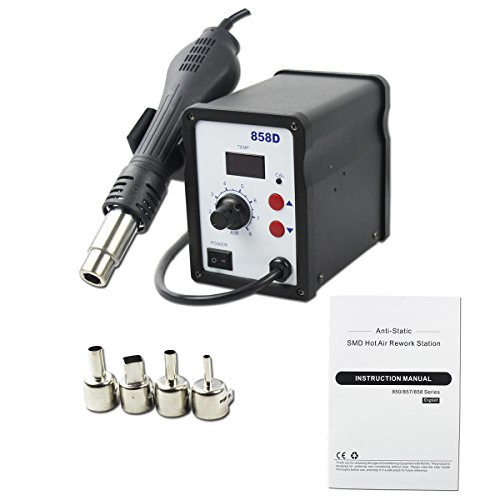 BACOENG 110V Digital 858D SMD Hot Air Rework Station Solder Blower Heat Gun