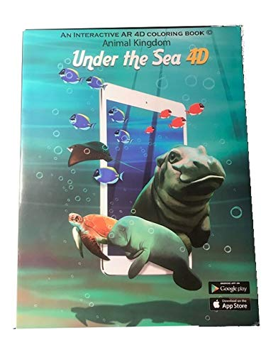 Interactive AR Coloring Books - Kids Coloring Books for Boys and Girls with 3D Augmented Reality W Free iOS / Android Apps - Awesome Twist, Educational Gift (2 Coloring Books, Under The Sea Animals)