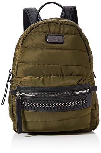 XTI 86129, Bolso mochila para Mujer, Verde (Kaki), 28x38x14