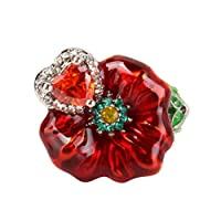 Yuehao 薔薇花 指輪 リング 華奢 ジュエリー ファッションアクセサリー人気リング アクセサリーレディース,6