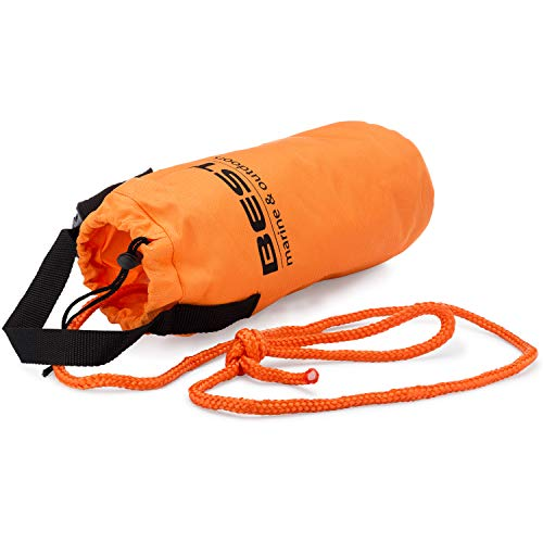 Best Marine Throw Ropes Rescue Bag with 70 Feet of Marine Line. Throwable Flotation Device for Kayaking and Boating. High Visibility Water Rescue Safety Equipment for Kayak and Boat Emergency