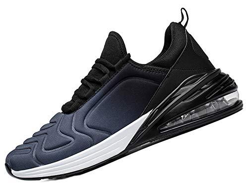 SINOES Hombre 720 Caña Baja Gimnasia Ligero Transpirable Casuales Sneakers de Exterior y Interior Zapatillas Deporte Zapatos Tenis Gris Negro 42 EU