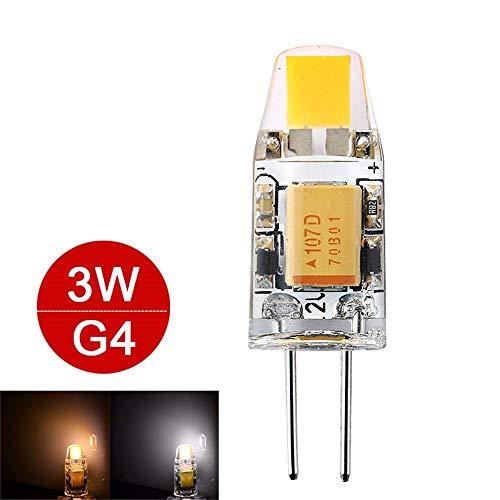3W 6W G4 LED Lampada AC/DC 12V Mini COB LED G4 Lampadina 360 Angolo d\'apertura Sostituire Lampada alogena Lampadario Luci G4 Led Luce Supporto Dimmer 2 pezzi, 3W, Bianco freddo