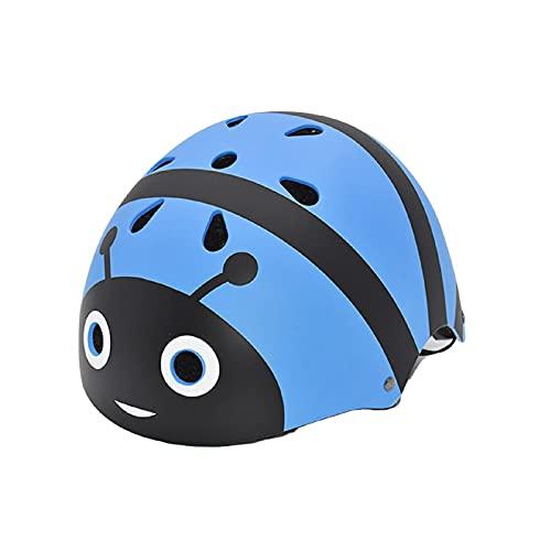 LZDMY Casco Ciclismo Bicicleta Niños Infantil Protección para Patines Patinete Patinaje Skate Monopatín Scooter para Deportes Regalo Bebe Proteccion (Abeja Azul)