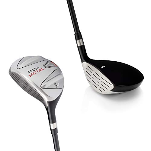 Left Handed Golf Club Founders Club Fresh Metal Fairway Wood with Headcover and Graphite Shafts (24, Senior)
