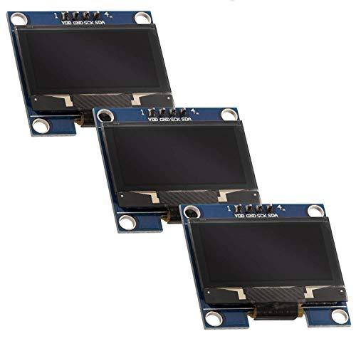 AZDelivery ⭐⭐⭐⭐⭐ 3 x 128 x 64 Pixel 1,3 Zoll OLED I2C Display für Arduino und Raspberry Pi mit Gratis eBook!
